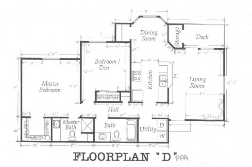 Inspiring Home Plan With Dimension 3 Bedroom Floor House Plan With All Dimensions Image