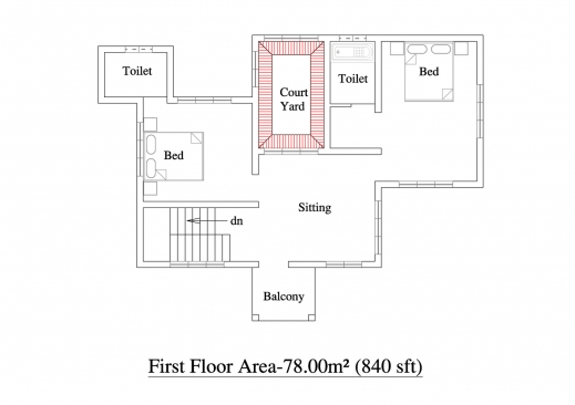 Simple 3 bedroom bungalow house floor plans house floor for Kerala house plan 3 bedroom
