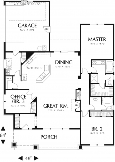 Marvelous 17 Best 1000 Ideas About Ranch Floor Plans On Pinterest Ranch 3 Bedroom House Floor Plans Single Story Picture