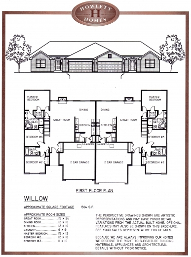 Duplex floor plans house floor plans for Duplex plans 3 bedroom