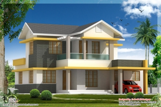 Marvelous Beautiful Bedroom House Elevation In Sq Feet Kerala Homes Urumi Plans House Beautifuls Pictures