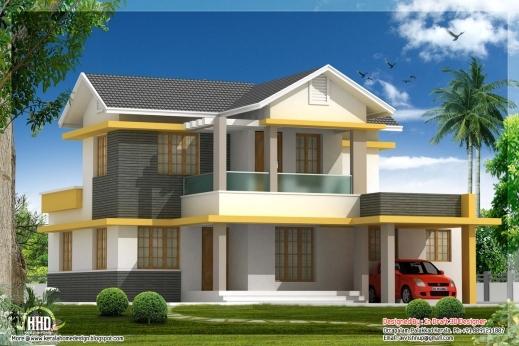 Marvelous beautiful bedroom house elevation in sq feet kerala homes urumi plans house beautifuls - Beautiful houses plan with bedroom ...