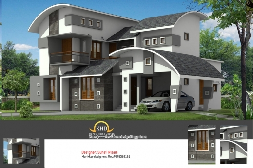 Marvelous House Plan And Elevation 2377 Sq Ft Kerala Home Design And Autocad Plan And Elevation For Kerala Homes Pics