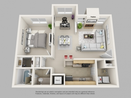 Marvelous One Bedroom House Plans 3d House Design Interior Exterior 3d One Bedroom House Plans Pic