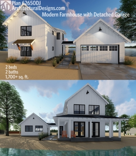 Marvelous Plan 62650dj Modern Farmhouse Plan With 2 Beds And Semi Detached Modern Farmhouse Open Floor Plans Picture