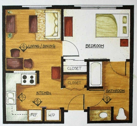 Marvelous Simple Floor Plan Nice For Mother In Law Has 2 Closets Small House Design And One Floor Plan Spaces Pics