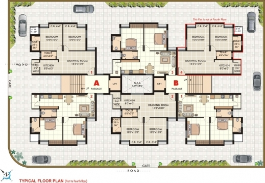 Outstanding Chandan Infrastructure Siddhi House And Flat Rajkot Gujarat Rajkot Home Plan Images