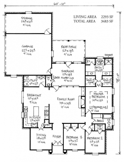 Outstanding house plan designs home design ideas 3 bedroom for Modern french country house plans