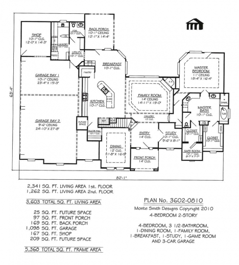 Remarkable 2 Story 4 Bedroom 3 12 Bathroom 1 Dining Area 1 Family Room Plan For A House That Have One Dining Room And One Bedroom Picture