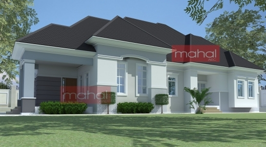 Remarkable 4 Bedroom Bungalow Plan In Nigeria 4 Bedroom Bungalow House Plans Nigeria House Design Plans Photos