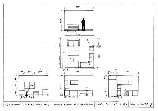 Remarkable Floor Plan Cob Design Floor Plan And Elevation Drawings Images
