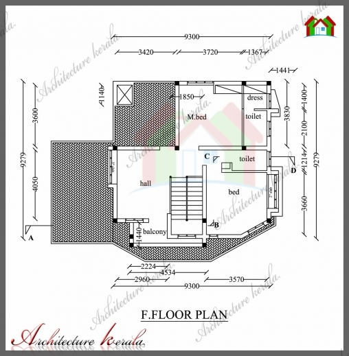 Stunning 1800 Sq Ft House Plan With Detail Dimensions Architecture Kerala Architecture Home Plan With Dimansion Images