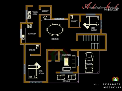 Stunning Architecture Kerala Four Bed Room House Plan House Plan With Pooja Room Pictures