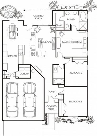 Stunning Minimalist Small House Floor Plans For Apartment Beautiful Small Plans House Beautifuls Image