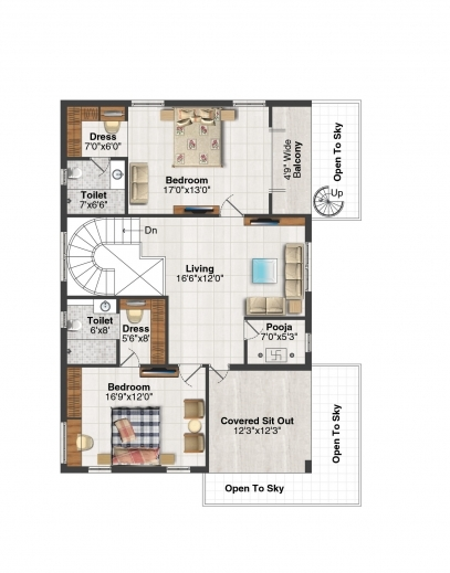 Stunning Welcome Msr Hill Valley 3 Bedroom House Plans With Pooja Room Pic
