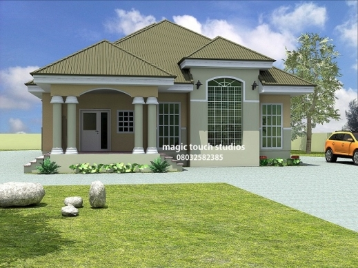 Stylish 3 Bedroom Modern House Plans In Nigeria Bedroom Inspiration Database Nigeria House Plan Picture