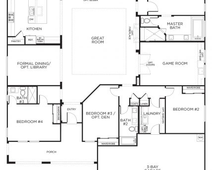 Stylish Love This Layout With Extra Rooms Single Story Floor Plans One 3 Bedroom House Floor Plans Single Story Images