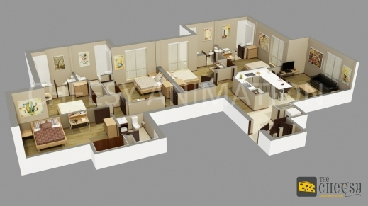 Stylish The Cheesy Animation Studio 2d And 3d Floor Plan Rendering And 3d Plans Of House Pic