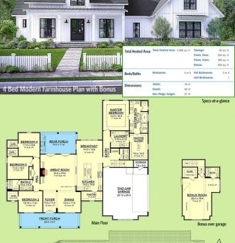 Wonderful 25 Best Ideas About Modern Farmhouse Plans On Pinterest Modern Farmhouse Open Floor Plans Images