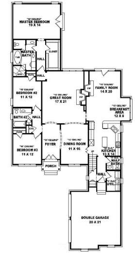 Wonderful 654015 one and a half story 3 bedroom 25 bath for One and a half storey house plans