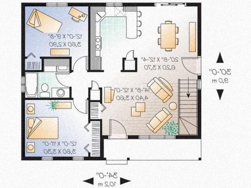 Wonderful Contemporary Bungalow House Plans Uk House Decor Modern 3 Bedroom Bungalow Floor Plans Photos