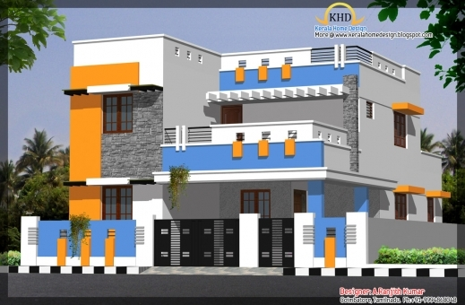 Wonderful Elevations Of Residential Buildings In Indian