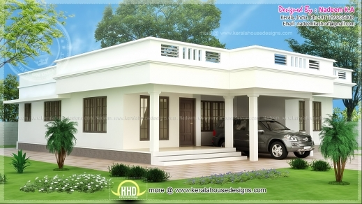 Ordinaire Wonderful Flat Roof Single Storey Home In 1850 Sq Ft Kerala Home Design  Kerala Single Story House Plans Pictures