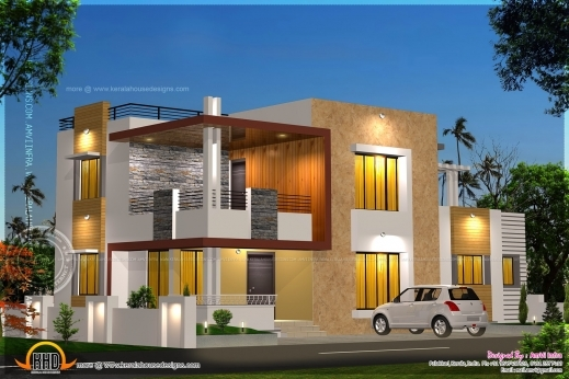 Wonderful Floor Plan And Elevation Of Modern House Kerala Home Design And Modern House Floor Plans And Elevations Picture