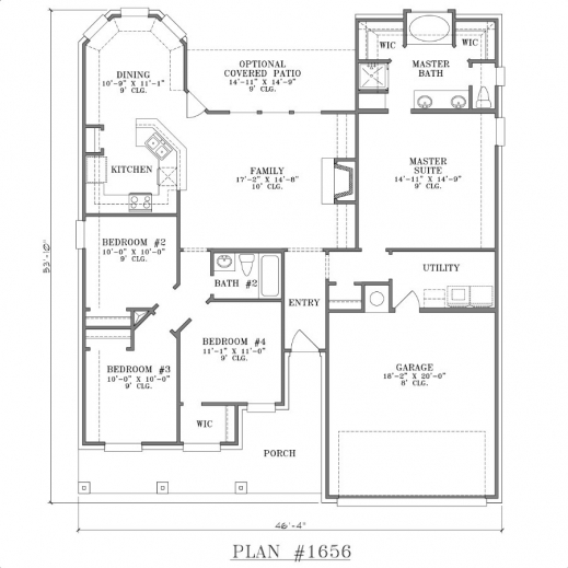 Wonderful Four Bedroomed Single Storey House Plan Decorate My House Plans Of 4 Bedroomed Single Storey Houses Images