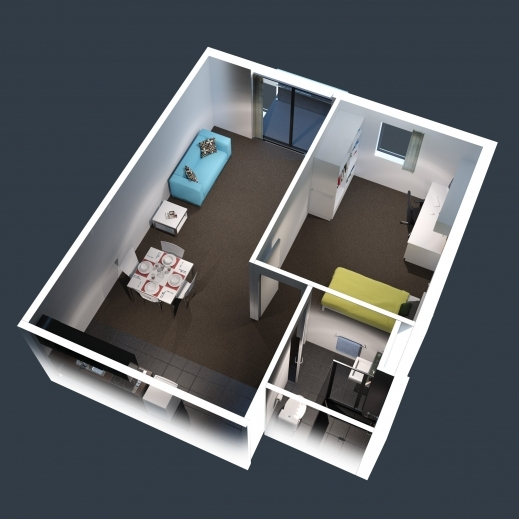 Wonderful One Bedroom House Plans 3d Google New Home Ideas 3d One Bedroom House Plans Pic