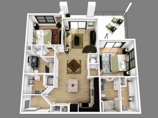 Amazing 2 Bedroom Apartment Floor Plans 3d Amazing Decoration 416118 House Plans 3d With 2 Bedrooms Pic