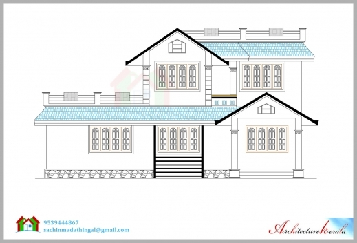 Gorgeous 1600 Square Feet House Plan And Its 3d Elevation Architecture Kerala House Plan And Elevation Drawings Image