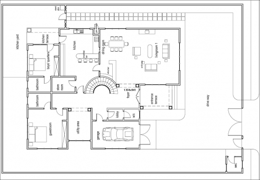 Outstanding Ghana House Plans Odikro House Plan Groundfloor Ghana Home Plans Com Photo