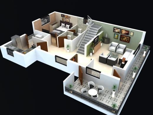 Remarkable 50 Two 2 Bedroom Apartmenthouse Plans 2 Bedroom House Plans House Plans 3d With 2 Bedrooms Pictures