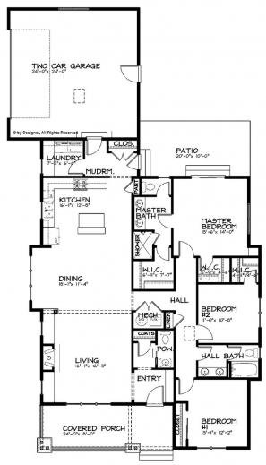Stylish 17 Best Ideas About Bungalow Floor Plans On Pinterest Single Story House Interior Design Open Floor Plan Pic