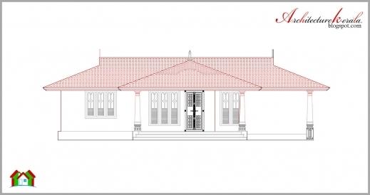 Stylish Beautiful Kerala Elevation And Its Floor Plan Architecture Kerala Elevation Floor Plan Image