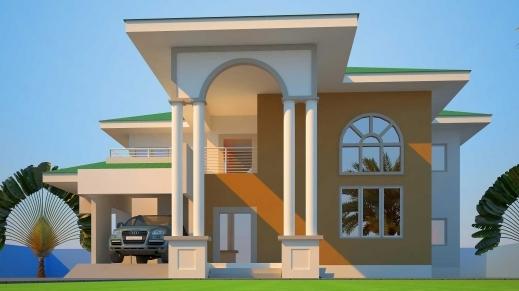 Ghana houseplan house floor plans for Three bedroom house plan in ghana