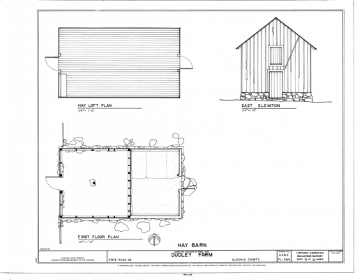 Amazing Filehay Barn East Elevation Hay Loft Plan And First Floor Plan Farmhouse Barn Plans Image