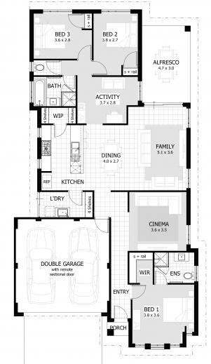 Inspiring 3 Bedroom House Plans Home Designs Celebration Homes Desi Style Cottage House Plan Pic