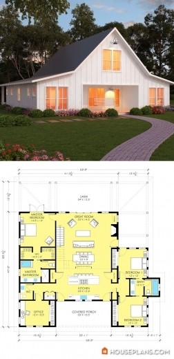 Marvelous Modern Farmhouse Plan 888 13 Architectnicholaslee Www Farmhouse Barn Plans Image