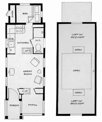 Outstanding Tiny Houses For Sale Tumbleweed Tiny Houses Ground Floor 8x20 Tiny House On Wheels Plans Images